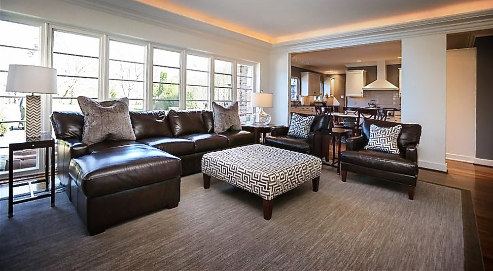 family room interior by anne marie weissend design associates we are a full - Full Service Interior Design