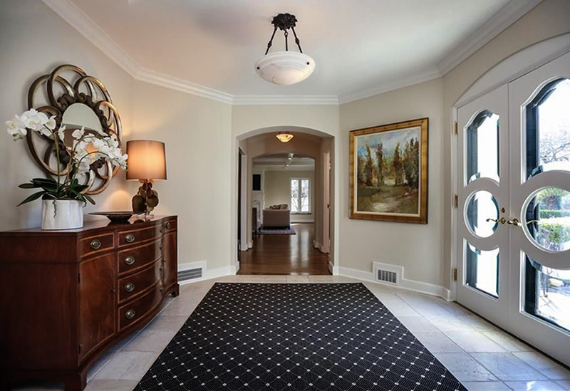 foyer interior by anne marie weissend design associates we are a full - Full Service Interior Design